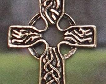 SALE: Celtic Knot Pewter Cross Jewelry Pendant