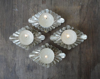 Vintage Tart Mold - Set of 4 - Made in Sweden - Tealight Candle Holders -