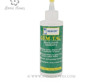 Gem-Tac Adhesive. Use to attach Swarovski Crystal Flat-Backs to just about anything.
