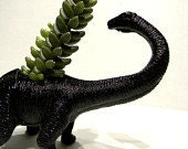 EXTREMELY LIMITED!Black dinosaur planter Ready to Plant and Display at Work or Home Great