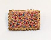 Biscuit Freckles - ceramic brooch