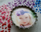 PERSONALIZED bottle cap magnet - custom made with YOUR photo