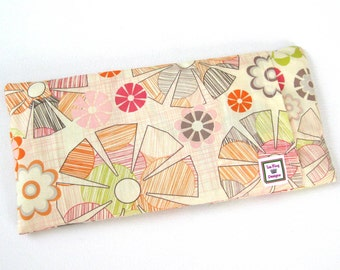 Heating Pad (Microwavable)- Pastel Groovy  // Buckwheat and Rice Heating Pad // Cold Pack // Removable Cover