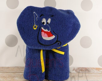 Kid's Hooded Towel - Genie Hooded Towel with Embroidery - character inspired Genie Towel for Bath, Beach, or Swimming Pool