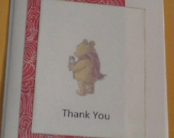 Pooh Child Greeting Card  Thank You
