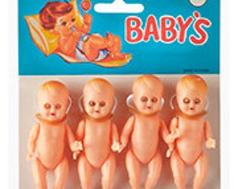 "Darice -12125  3"" Mini Baby Doll - 4 pcs"
