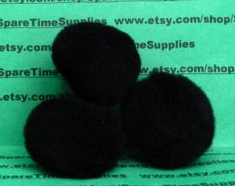 """Fibre Craft - 1576-55 Pom Pom - black - 1 1/2"""" (38mm) - 9 pcs"""