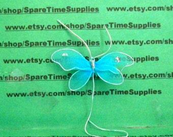 "Fibre Craft - 7988BL - Nylon Butterfly - 2 1/4"" - blue - 2 pcs"