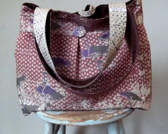 Brown Diaper Bag - XL - 6 pockets - Key Fob - 2 Straps