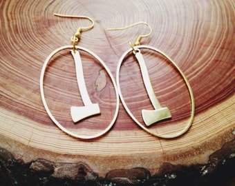 the gold axe - earrings  timber army