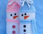 Snowman Wine Bottle Bag