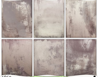 Distressed Latte Browns Painted Digital Prints Instant Download Set of 6 - 8.5 x 11 inch Printable Papers JPEG & PDF Commercial Use 1869