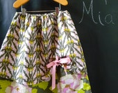 SAMPLE - Teens A-line Skirt - Double Layer with grommet detail  - Will fit size 12yr up to 14 yr - by Boutique Mia and More - Ready To Ship