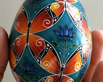 Made To Order Butterflies Pysanka Pysanky Batik Ukrainian Style Easter Egg Art EBSQ Plus