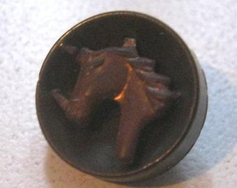Vintage Shank UNICORN Button  FREE SHIPPING