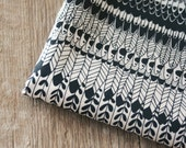 Wingspan Fabric - Small Piece - Black on White
