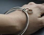 Family Jewel Box, silver  bracelets, set of 3,