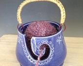 SALE-Cobalt Blue Yarn Bowl