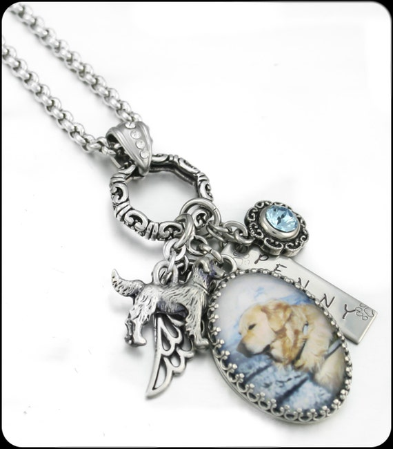 Dog Memorial Jewelry Dog Memorial Necklace by