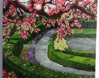 Brooklyn Garden spring oil painting