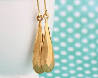 Geometric Earrings, Modern Earrings, Brass Dangle Earrings, Minimalist Earrings, Long Earrings, Gift For Woman, Mothers Day Gift