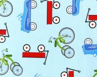 Retro Racers in Blue by Terri Henson, 1 Yard