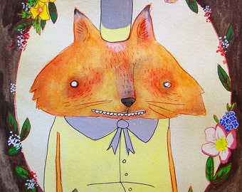 Portrait of a Fox - PRINT - various sizes