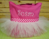 custom order Tutu Tote bag, Princess Tutu Tote bag, Personalized, tutu tote bag