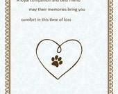 Pet Sympathy Card - Heart Sympathy