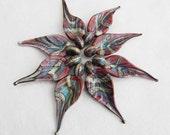 8 Organic Creek Leaves,  handmade glass bead leaves, lampwork beads by Beadfairy Lampwork, SRA