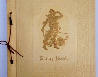 Vintage 1940s Scrapbook and Greeting Cards Pirate and Treasure Chest Scrapbook