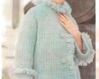 Crochet Spring Coat with Fringe (U20)