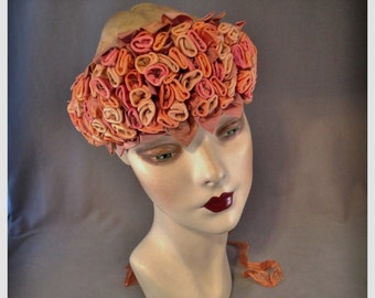 Outstanding , Massive and Lush 1920s Silk Ribbonwork, Ribbon Work Millinery Trim, Fall Tones, Many Uses