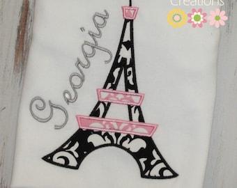 Eiffel Tower Shirt, Paris shirt, French Birthday shirt, Paris Party, Birthday shirt, Girls birthday shirt, sew cute creations paris