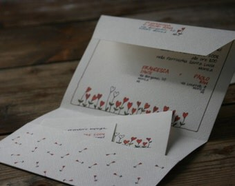 Bag - Customized Wedding Invitation 10 pcs