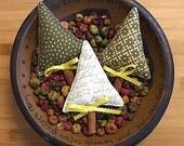 Primitive Folk Art Christmas Tree Bowl Filler Ornament Decorations