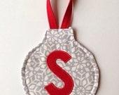 Snowflake monogrammed ornament