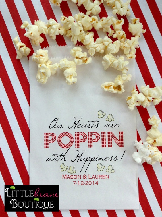 Popcorn Bags Wedding Favor BagsPopcorn Favor Bags Birthday