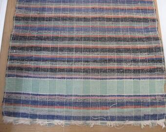 Vintage Striped Cotton Rag Rug