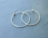 Silver Hoop Earrings - Simple Hoops - Hoop Earrings - Ear Jewelry