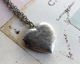 heart. locket necklace. silver ox jewelry