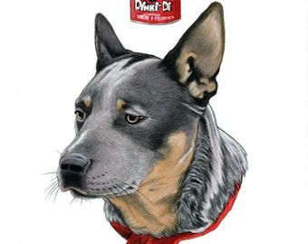 Mad Max Dog Limited Edition Art Print by Ryan Berkley