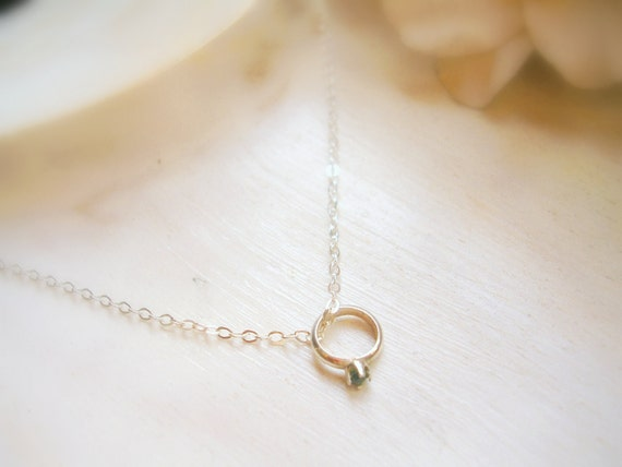 Sterling Silver Baby Ring Charm Mothers Grandmothers Necklace