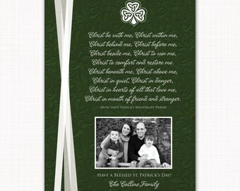 St. Patrick's Prayer - a St. Patrick's Day photo card with custom colors, text and layout