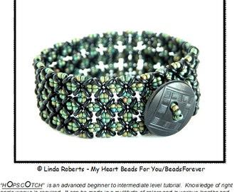 Beading Tutorial - Hopscotch Bracelet - Right Angle Weave - O beads