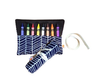 CLEARANCE Eco Crayon Roll | Herringbone Lake