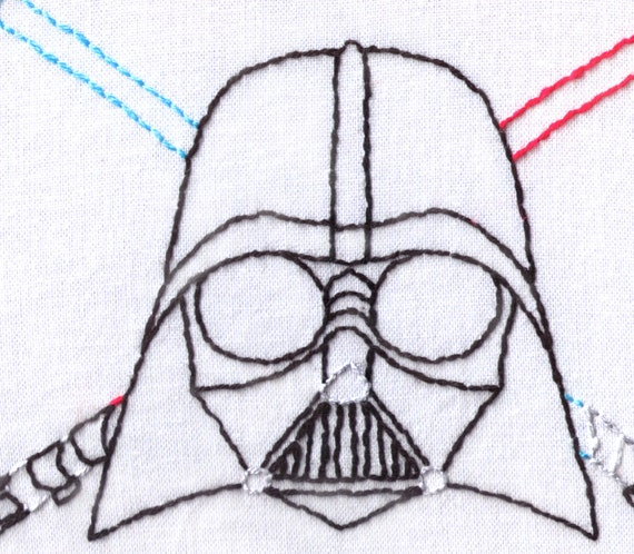 Vader hand embroidery pattern darth star wars pdf