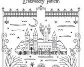 Academy of the Magic Arts Embroidery Pattern