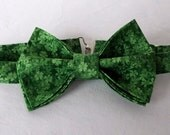 Jumbo Retro Bow Tie - bowtie - Kelly Green - Irish - St. Patrick's Day - Geek Doctor Who - Adult - Mens