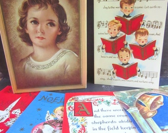 Box of 21 Vintage Unused Christmas Cards and Envelopes Bible Text Assortment